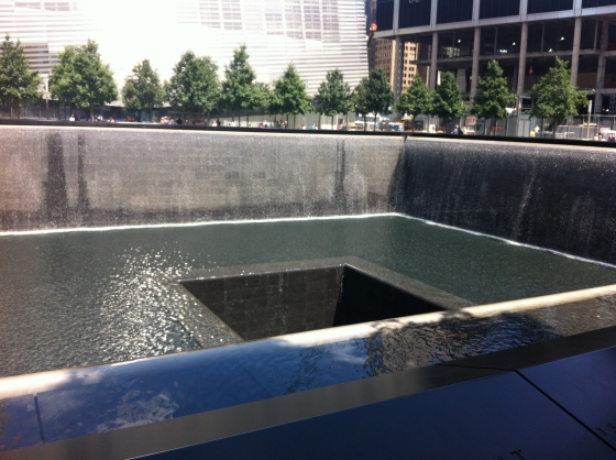 Waterfall at Ground Zero Memorial Site